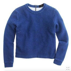 J. Crew Tops - J. Crew Quilted Indigo Sweatshirt